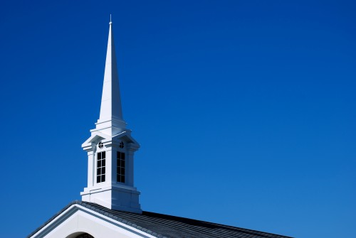 white-church-steeple-with-blue-sky