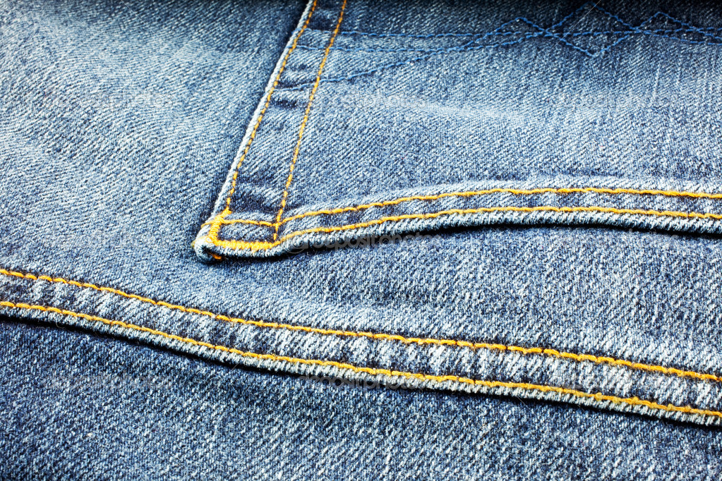 blue denim jeans background. closeup