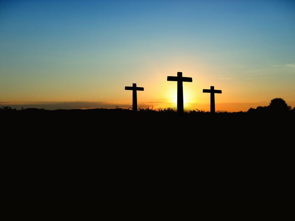cross-sunset-sunrise-hill-70847